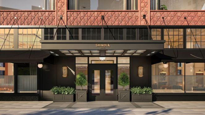 Front of the Shinola Hotel.